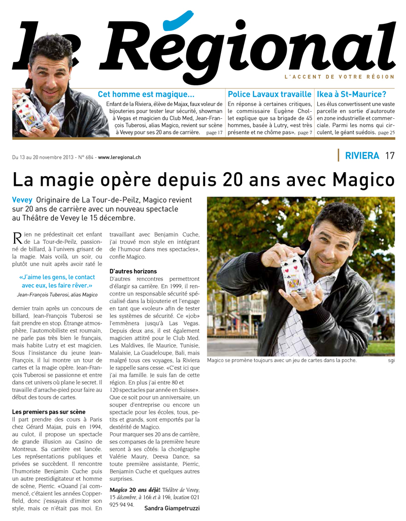 Le Régional – 13-11-2013